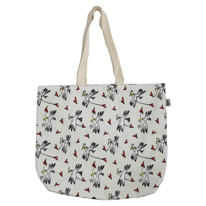 Gallery Thea Luxury Lined Shopper Gull & Heart Ivo Sparkle Gift