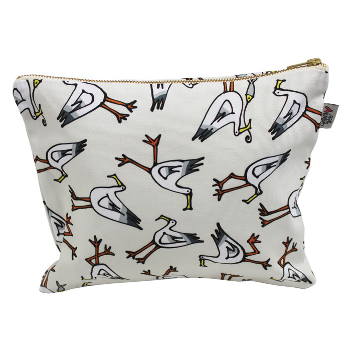 Gallery Thea Luxury Printed Wash Bag Seagull Ivory Sparkle Gift