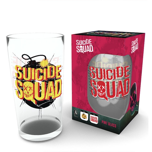 Suicide Squad Large Glass Bomb Logo Sparkle Gift