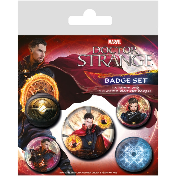 Marvel Badge Pack Doctor Strange Set of 5 Sparkle Gift