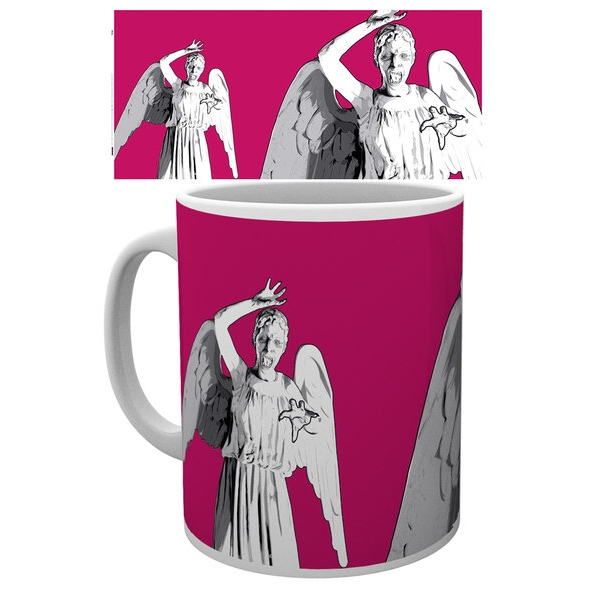 Doctor Who Boxed Mug Weeping Angel Pop Art Sparkle Gift
