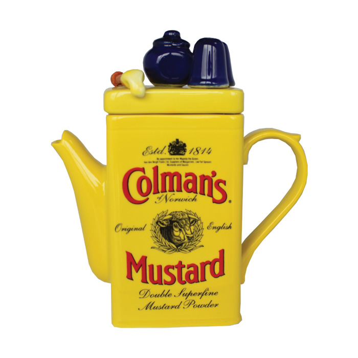 Teapot Mustard Medium Sparkle Gift