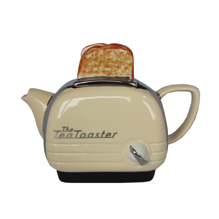 Teapot Toaster Cream Medium Sparkle Gift