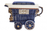 Teapot Romany Caravan Blue Medium Sparkle Gift