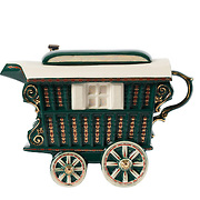 Teapot Romany Caravan Green Medium Sparkle Gift