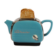 Teapot Toaster Blue Medium Sparkle Gift