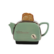 Teapot Toaster Green Medium Sparkle Gift