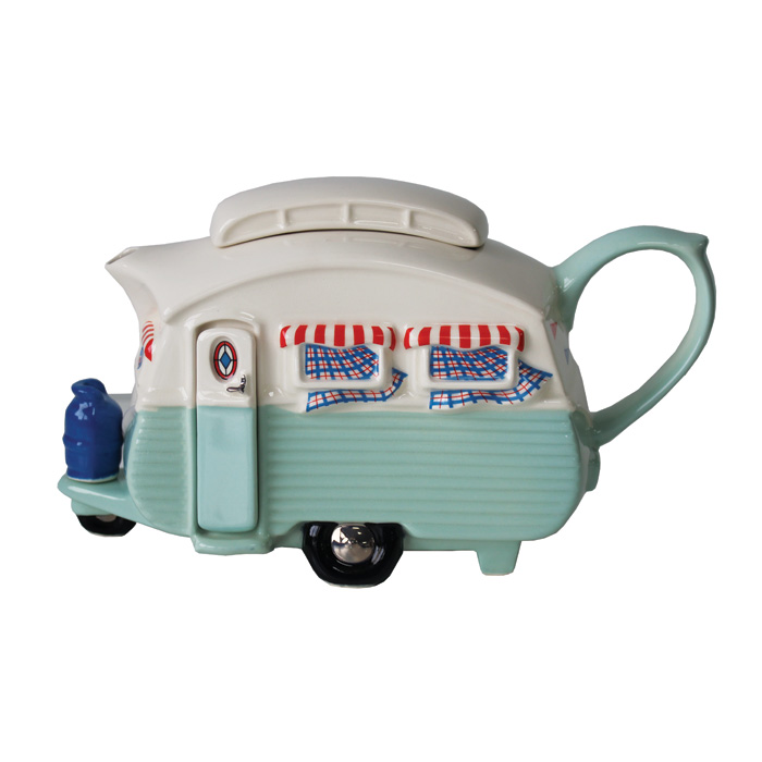 Teapot Touring Caravan Green Limited Edition Sparkle Gift