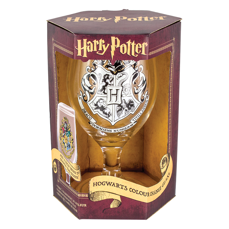 Harry Potter Colour Change Glass Sparkle Gift