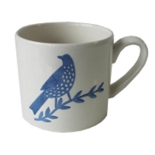 Songbird Blue Mug Single Bird Single                         Sparkle Gift