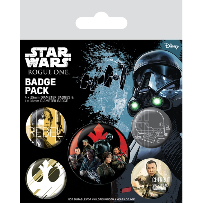 Star Wars Badge Pack Rogue One Rebels Sparkle Gift