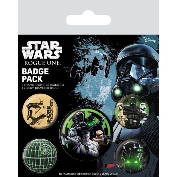 Star Wars Badge Pack Rogue One Empire Sparkle Gift