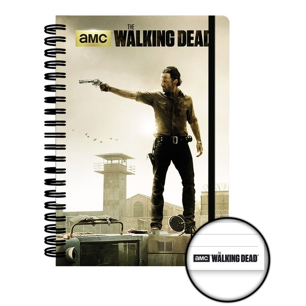 Walking Dead A5 Notebook Prison Sparkle Gift
