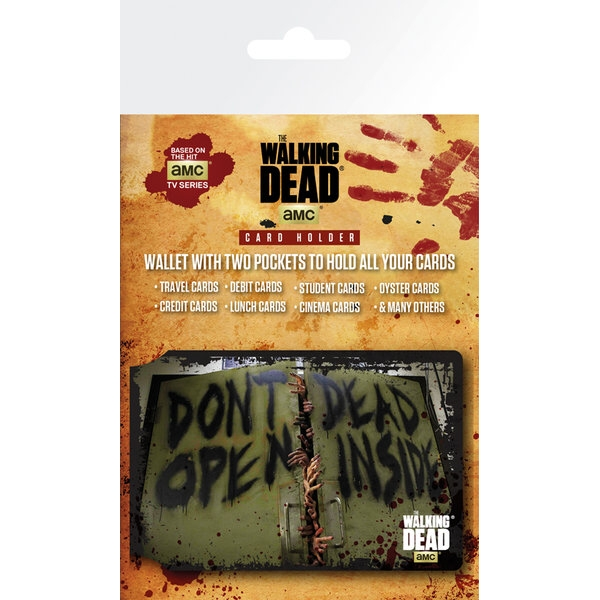 Walking Dead Card Holder Dead Inside Sparkle Gift