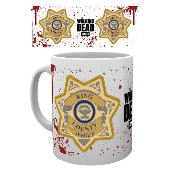 Walking Dead Boxed Mug Sheriff Badge Sparkle Gift