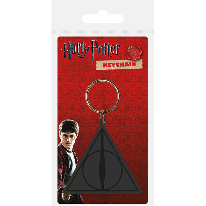 Harry Potter Keyring Deathly Hallows Sparkle Gift