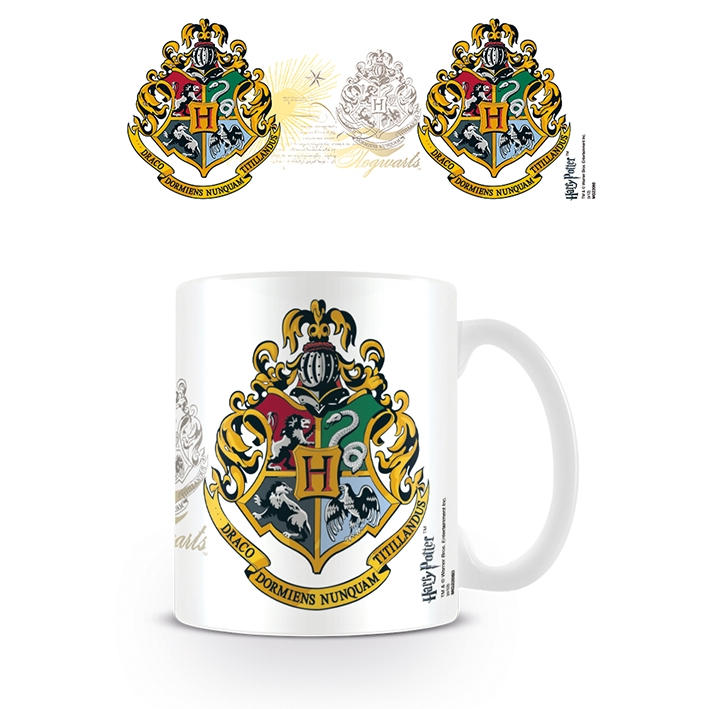 Harry Potter Boxed Mug Hogwarts Crest Sparkle Gift