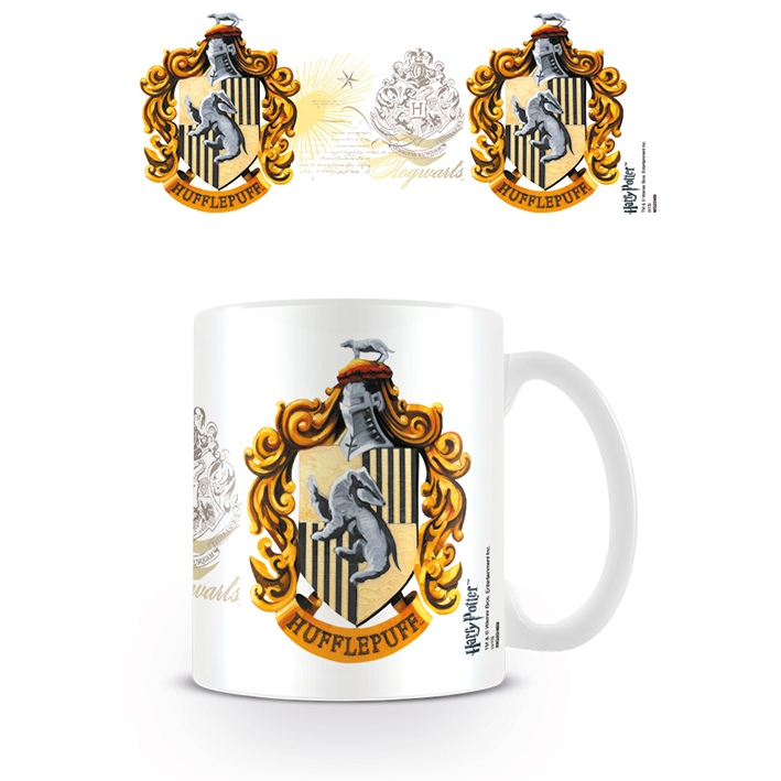 Harry Potter Boxed Mug Hufflepuff Crest Sparkle Gift