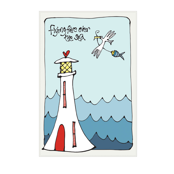 Gallery Thea Tea Towel Flying Free Over The Sea Sparkle Gift