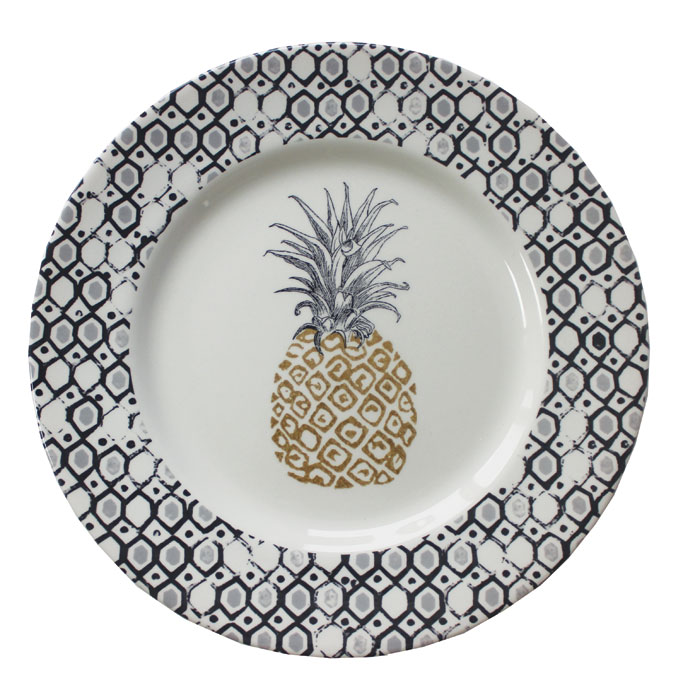 Royal Stafford Pineapple Dinner Plate 27.8cm 6 Pk Sparkle Gift
