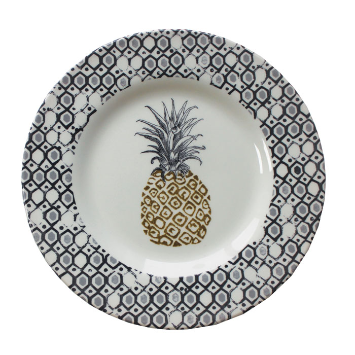 Royal Stafford Pineapple Side Plate 22cm 6 Pack Sparkle Gift