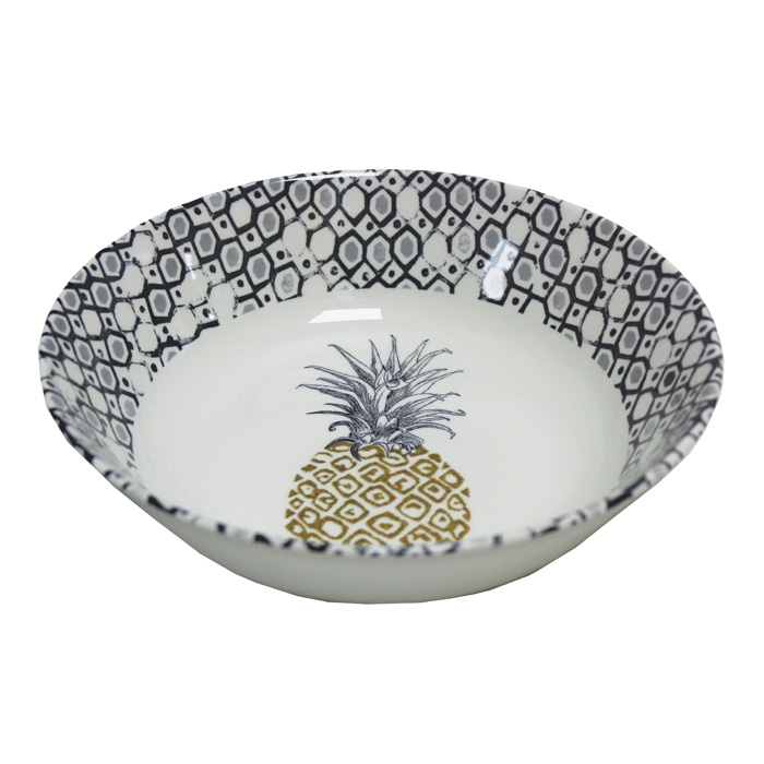 Royal Stafford Pineapple Cereal Bowl 19cm 6 Pack Sparkle Gift