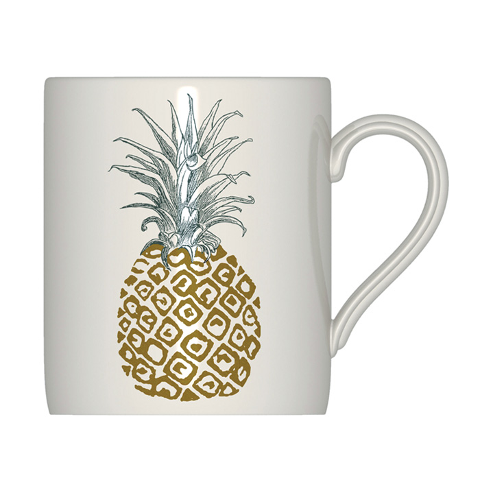 Royal Stafford Pineapple Mug 6 Pack Sparkle Gift