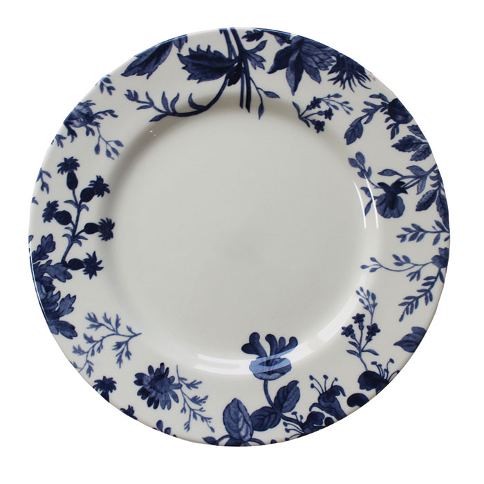 Royal Staff Floral Weave Dinner Plate Blue Bord. 6 Sparkle Gift