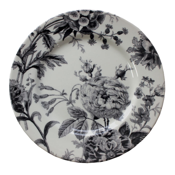 Royal Stafford Floral Weave Dinner Plate Black 6pk Sparkle Gift