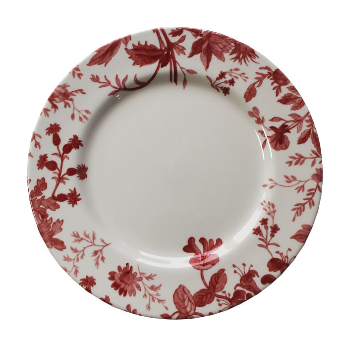 Royal Staff Floral Weave Dinner Plate Red Bord 6pk Sparkle Gift
