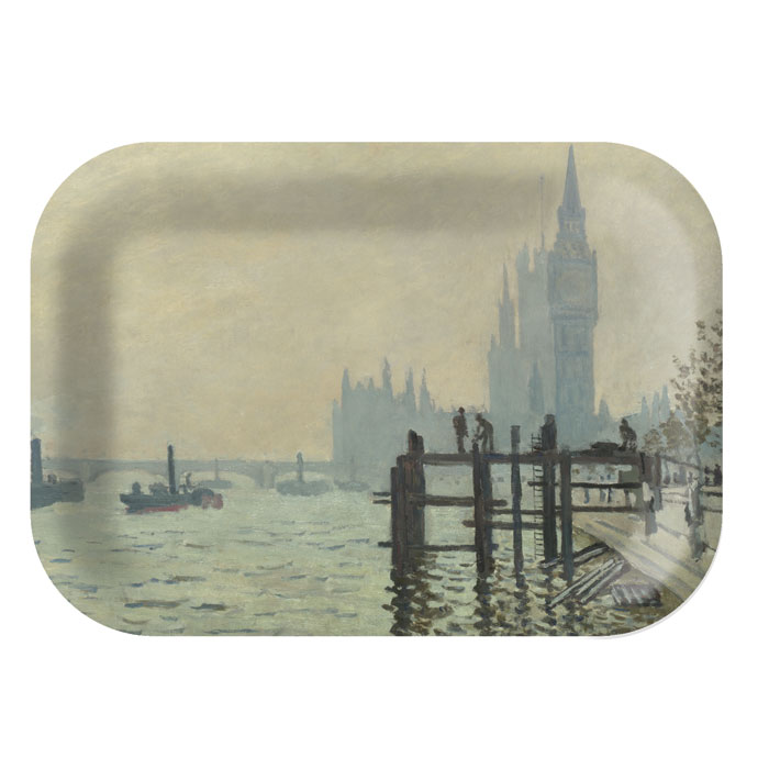 National Gallery Tray Monet Thames At Westminster Sparkle Gift
