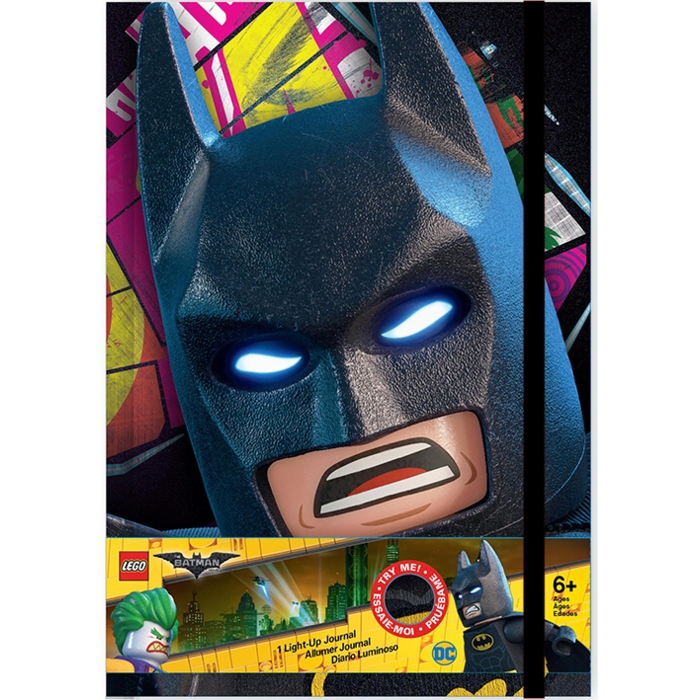 Lego Batman Light Up A5 Journal Sparkle Gift