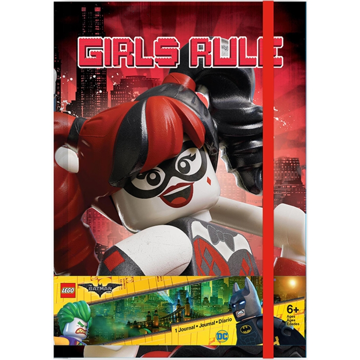 Lego Batman A5 Journal Harley Quinn / Batgirl Sparkle Gift
