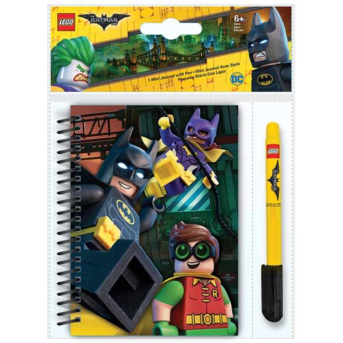 Lego Batman Mini Journal and Gel Pen Set Sparkle Gift