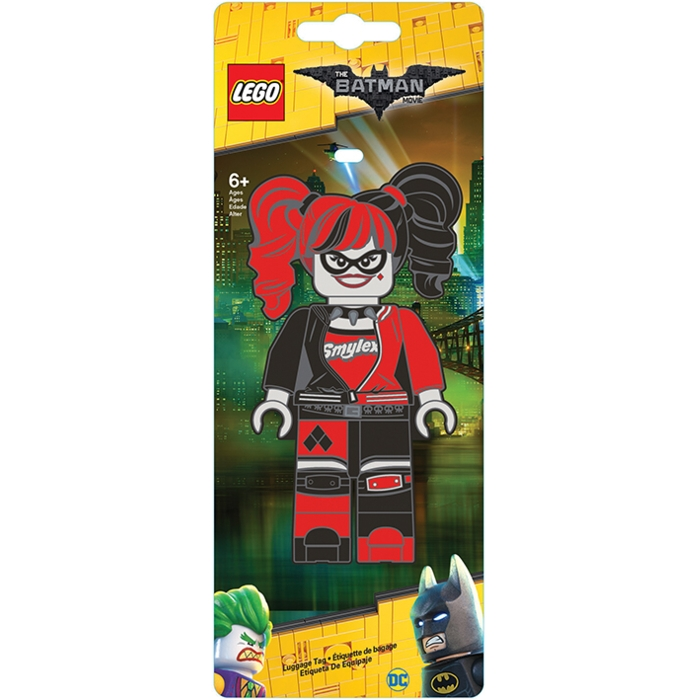 Lego Batman Luggage Tag Harley Quinn Sparkle Gift
