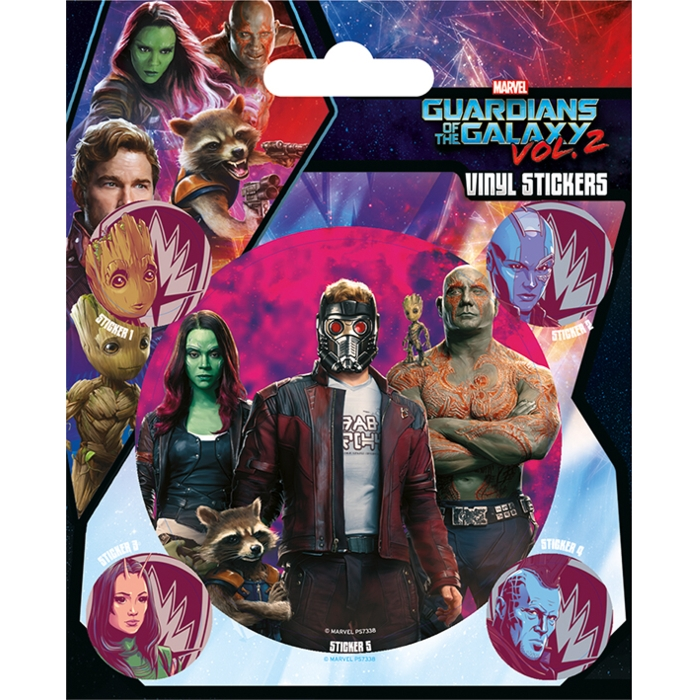 Marvel Stickers Guardians Vol. 2 Guardians Sparkle Gift