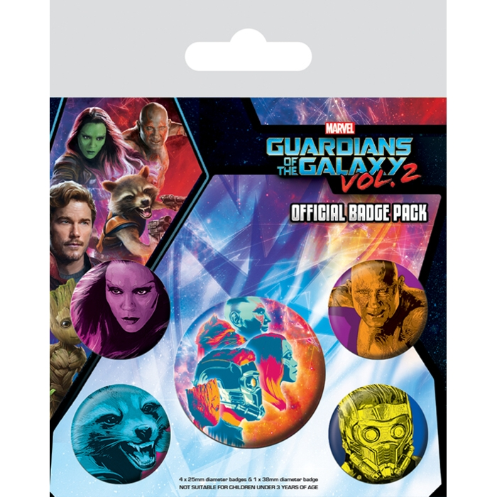 Marvel Badge Pack Guardians Vol. 2 Cosmic Sparkle Gift