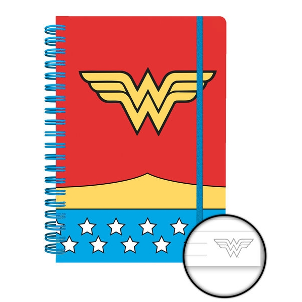Wonder Woman A5 Notebook Costume Sparkle Gift