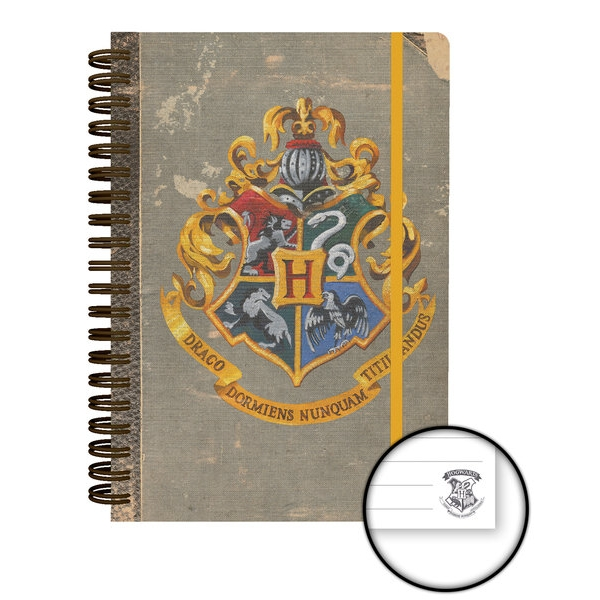 Harry Potter A5 Notebook Hogwarts Sparkle Gift