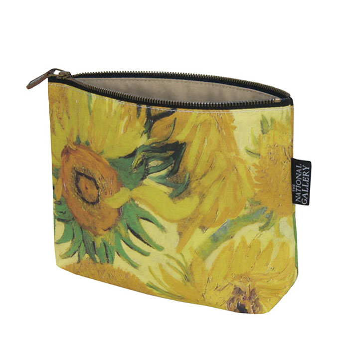 National Gallery Cosmetic Purse Sunflowers X5 Sparkle Gift