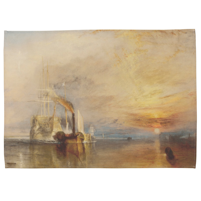 National Gallery Tea Towel Fighting Temeraire X5 Sparkle Gift