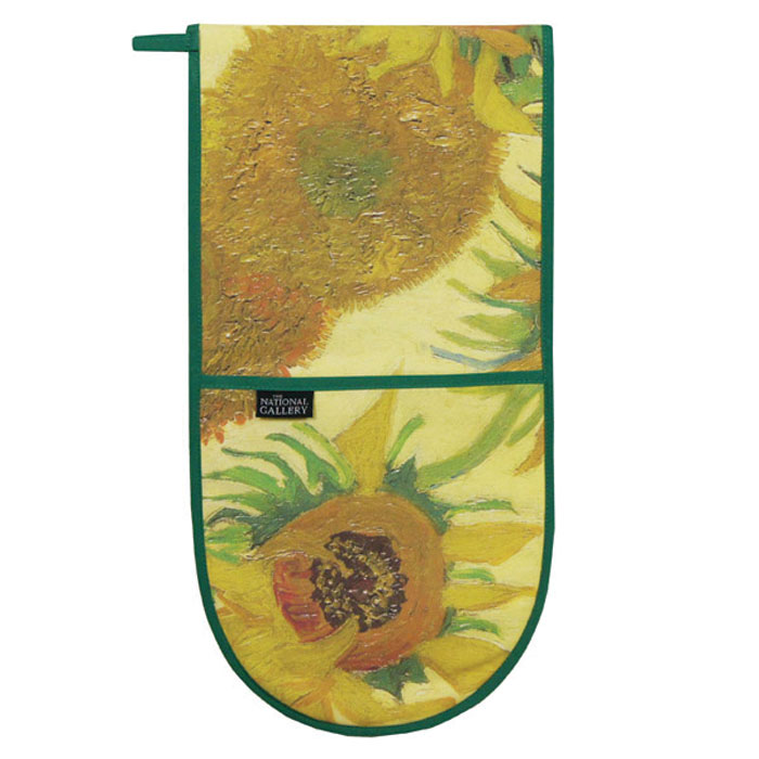National Gallery Oven Gloves V Gogh Sunflowers X2 Sparkle Gift