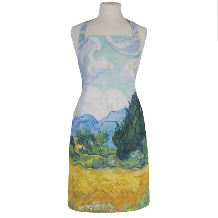 National Gallery Apron Van Gogh A Wheatfield X2 Sparkle Gift