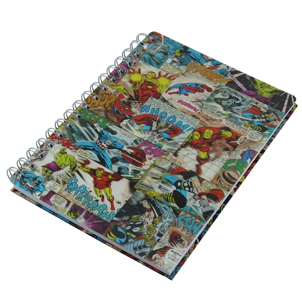 Marvel A5 Notebook Lenticular Comic Panels Sparkle Gift
