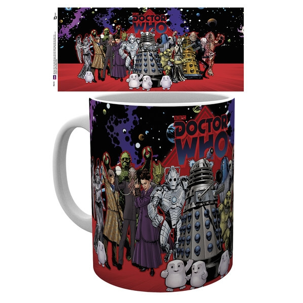 Doctor Who Boxed Mug Villains Group Sparkle Gift