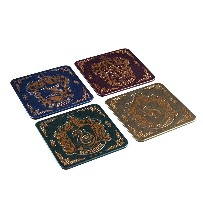 Harry Potter Coasters Crests Set of 4 Sparkle Gift