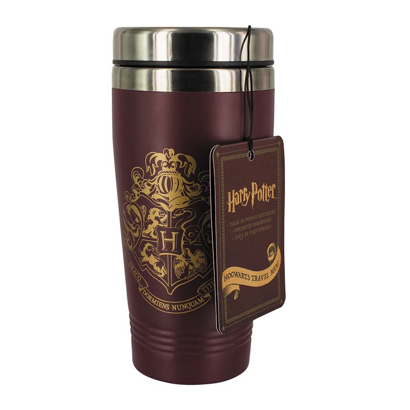 Harry Potter Travel Mug Hogwarts Crest Sparkle Gift