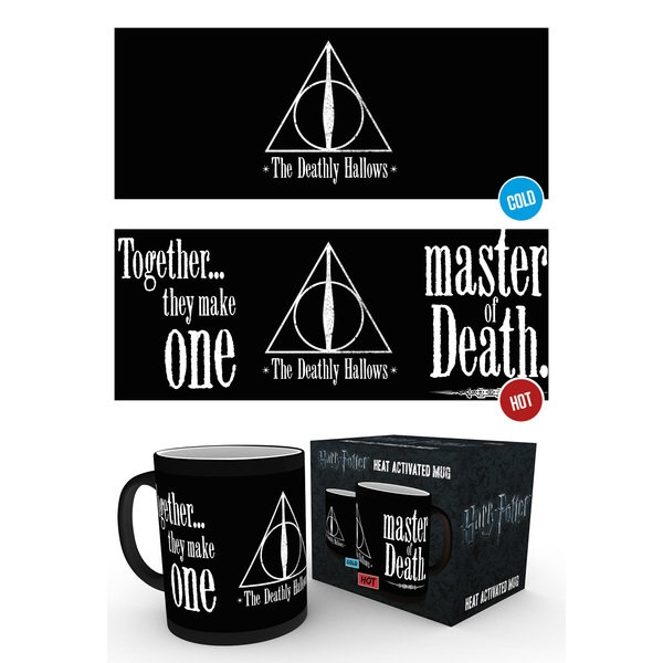 Harry Potter Heat Change Mug The Deathly Hallows Sparkle Gift