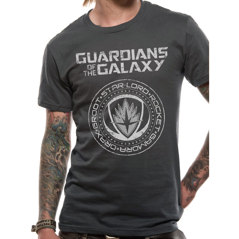 Marvel T Shirt Guardians Vol 2 Crest Mens Small Sparkle Gift