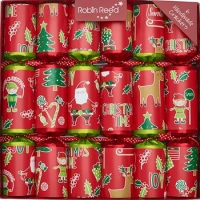 Christmas Crackers (6) Pin The Nose 30cm Sparkle Gift